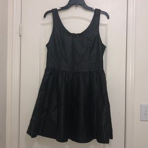 Gorgeous Vegan Leather fit and Flare dress
